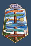 Door County, Wisconsin - Destination Signpost - Contour - Lantern Press Artwork