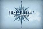 Lake Murray, South Carolina - Lake & Compass - Lantern Press Artwork