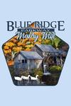 Blue Ridge Parkway, Virginia - Mabry Mill in Fall - Contour - Lantern Press Artwork