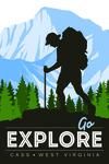 Cass, West Virginia - Go Explore - Backpacker - Lantern Press Artwork