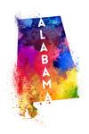 Alabama - State Abstract - Contour - Lantern Press Artwork