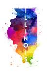 Illinois - State Abstract - Contour - Lantern Press Artwork