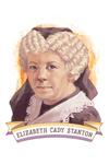 19th Amendment Centennial Art - Elizabeth Cady Stanton - Contour - Lantern Press Artwork