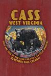 Cass, West Virginia - Black Bear Family - Vintage Sign - Contour - Lantern Press Artwork