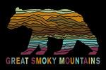 Great Smoky Mountains - Black Bear - Abstract Mountain Scene - Lantern Press Artwork