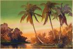 Palm Trees - Vintage Watercolor - Lantern Press Artwork