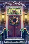 Christmas Door - Merry Christmas - Lantern Press Artwork