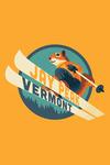 Jay Peak, Vermont - Animal Activities Series - Ski Squirrel - Contour - Lantern Press Artwork