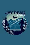 Jay Peak, Vermont - Skier & Mountain - Contour - Lantern Press Artwork