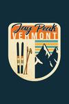 Jay Peak, Vermont - Skis & Mountains - Contour - Lantern Press Artwork