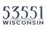 Lake Mills, Wisconsin - Local Zip Code - Lantern Press Artwork