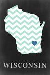 Watertown, Wisconsin - Chalkboard States - Lantern Press Artwork
