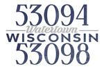 Watertown, Wisconsin - Local Zip Code - Lantern Press Artwork