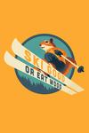 Ski Good or Eat Wood - Animal Activities Series - Ski Squirrel - Contour - Lantern Press Artwork