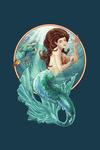 Mermaid - Contour - Lantern Press Artwork