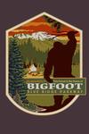 Blue Ridge Parkway - Home of Bigfoot - Contour - Lantern Press Artwork