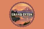 Grand Teton National Park, Wyoming - Sunset & Mountains - Contour - Lantern Press Photography