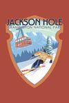 Jackson Hole, Wyoming - Grand Teton National Park - Skiing - Contour - Lantern Press Artwork