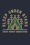 Great Smoky Mountains - Dark Sky Park - Sleep Under the Stars - Camping - Contour - Lantern Press Artwork