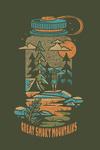 Great Smoky Mountains - Waterbottle - Distressed Vector - Lantern Press Artwork