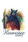Hiawassee, Georgia - Black Bear - Watercolor - Lantern Press Artwork