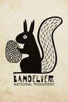 Bandelier National Monument, New Mexico - Abert Squirrel - Ancestral Pueblo Pottery Style - Contour - Lantern Press Artwork