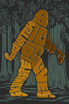 Bigfoot - Typography - Lantern Press Artwork
