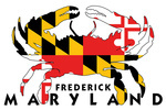 Frederick, Maryland - Crab Flag - White Background - Lantern Press Artwork