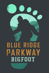 Tennessee - Bigfoot - Contour - Lantern Press Artwork