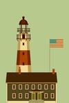 Lighthouse - Geometric - Lantern Press Artwork