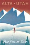 Alta, Utah - Skier In the Mountains - Litho - Lantern Press Artwork