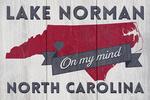 Lake Norman, North Carolina - State on My Mind - Lantern Press Artwork