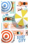 Surf City - Sun Bathing - Lantern Press Artwork