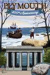 Plymouth, Massachusetts - 400th Anniversary - Portico - Lantern Press Artwork