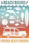 Virginia Beach, Virginia - Beach Icons - Beach Bound - Lantern Press Artwork