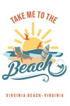 Virginia Beach, Virginia - Take Me too the Beach - Contour - Lantern Press Artwork