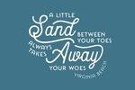 Virginia Beach, Virginia - Simply Said - Sand Between Your Toes - Lantern Press Artwork