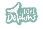 I Love Dolphins - Contour - Lantern Press Artwork