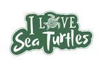 I Love Sea Turtles - Contour - Lantern Press Artwork