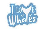 I Love Whales - Contour - Lantern Press Artwork