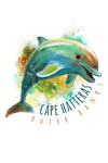 Cape Hatteras, North Carolina - Outer Banks - Dolphin - Contour - Lantern Press Artwork