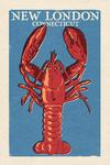 New London, Connecticut - Lobster - Woodblock - Lantern Press Artwork