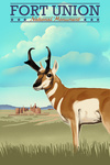 Fort Union, New Mexico - Pronghorn Antelope - Lithograph - Lantern Press Artwork