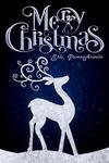 Erie, Pennsylvania - Merry Christmas - Reindeer - Lantern Press Artwork