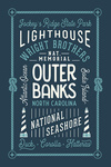 Outer Banks, North Carolina - Typography - Lantern Press Artwork