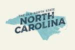 North Carolina - The Old North State - Local Love - Lantern Press Artwork
