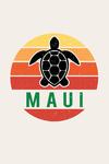 Maui, Hawaii - Sun - Contour - Color Blocking - Lantern Press Artwork