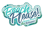 Dewey Beach, Delaware - Beach Please - Tropical Fronds & Leaves - Contour - Lantern Press Artwork