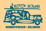 Rehoboth Beach, Delaware - Coastal Icons - Contour - Lantern Press Artwork