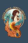 Outer Banks, North Carolina - Mermaid - Contour - Lantern Press Artwork